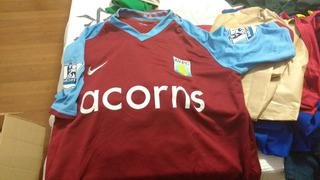 Camisa Aston Villa 2008-2009, Nike, M, Rara, Oficial!