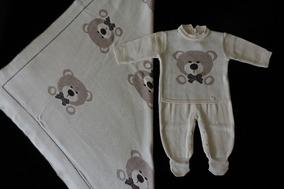 Saída De Maternidade Petit Mouton Macacão Ursinho
