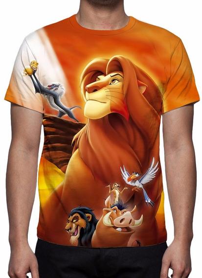 Camisa, Camiseta Disney O Rei Leão Mod 02 - Estampa Total
