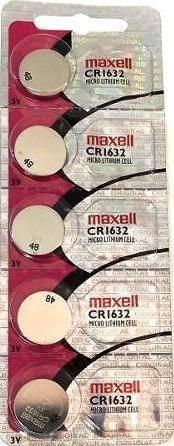 Cartela C/5 Baterias Cr1632 Maxell - Carta Registrada !!!