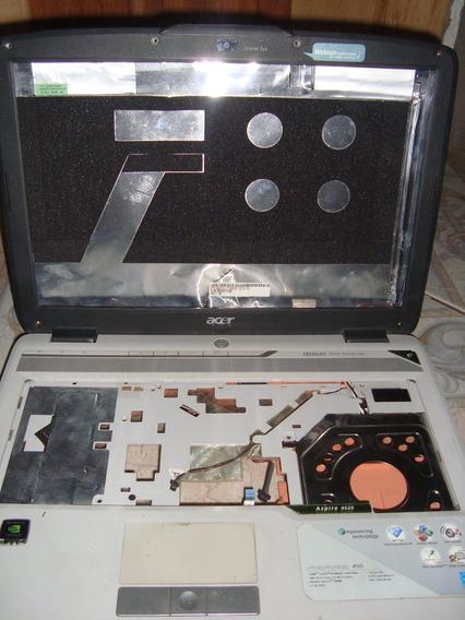Carcaça Completa Notebook Acer 4520 Com Dobradiças