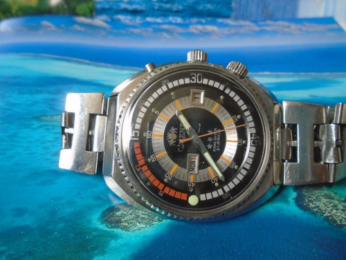 Relógio Orient King Diver Cal 1942 S'70 50 Mm 2 Janelas Raro
