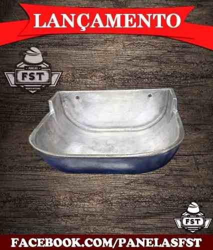 4 Saleiro, Cocho, Bebedouro, Comedouro De Alumínio Fundido
