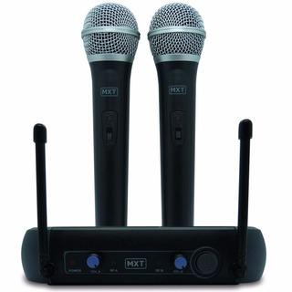 Microfone S/ Fio Uhf Duplo De Mão Profissional Cert. Anatel