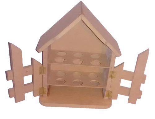 Casita Para Huevos En Mdf Para Pintar Y Decorar (12unidades)