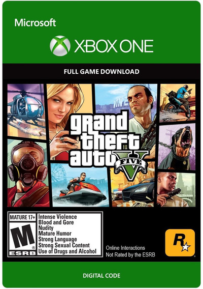 Grand Theft Auto V Gta 5 Xbox One Codigo 25 Digitos Digital