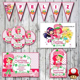 Tarjetas Infantiles Para Cumpleaños Frutillita En Mercado