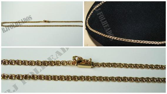 Cordão Masculino Banhado A Ouro 18k Friso 4mm Fino 70cm