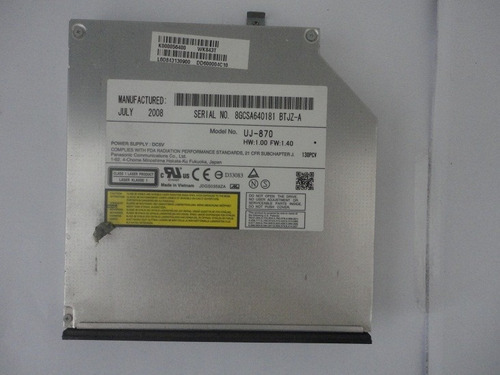 Gravador Dvd Notebook Toshiba Satellite A200