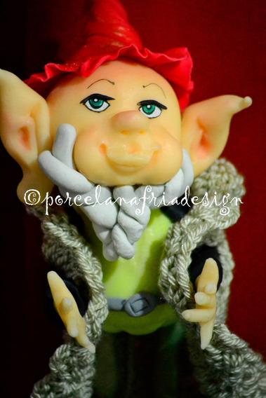 Duende A Abrigarsee!!!! Hecho A Mano Porcelana Fria