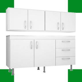 Combo 5 Cocina Alacena 1.60 Con Bajo Mesada Oferta 5 Mueble