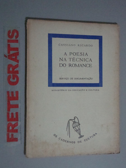 Livro A Poesia Na Técnica Do Romance