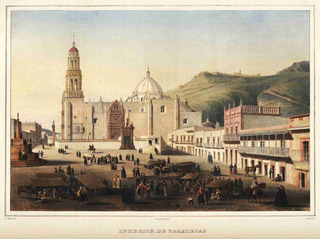 Lienzo Tela Canva Grabado Nebel Zacatecas México 1836 50x 67