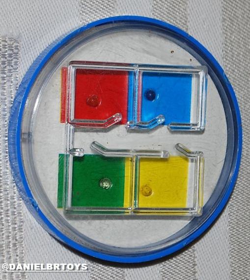 Jogo Encaixe De Bolinhas Labirinto Cores 6cm Diâm Anos70