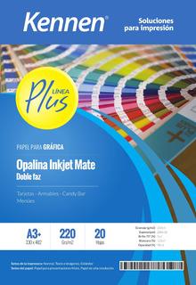 Papel Bifaz Kennen 220 Gr A3+ Mate P/ Carpetas X 20 Hojas