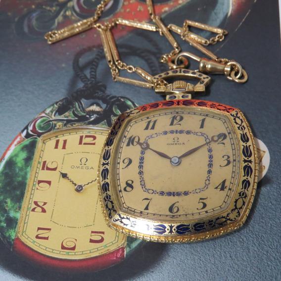 Relógio Omega De Bolso Art Deco Ouro Maciço Antigo Unico