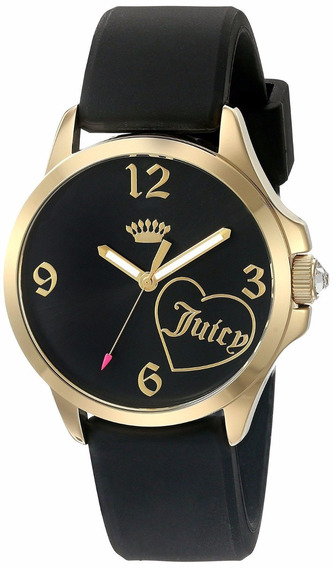 Reloj Juicy Couture Jetsetter Silicón Negro Mujer 1901308