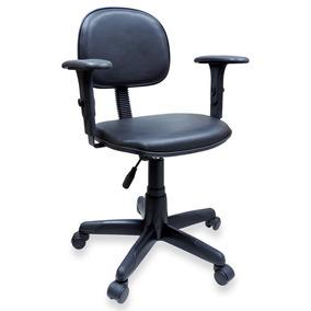 Cadeira Secretária Giratória Couro Ecológico C/ Braço
