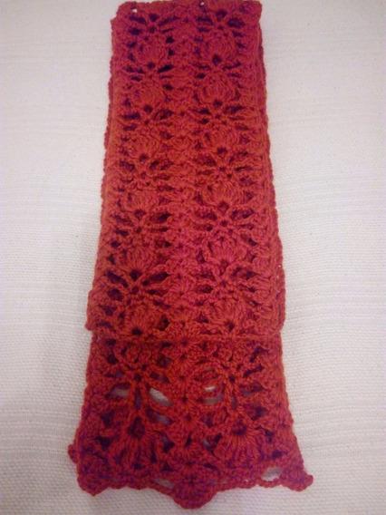 Bufanda Crochet Artesanal De Lana