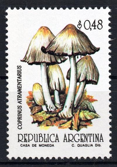 Argentina 1992 Gj 2594** Mint Hongo Semimate Serie Básica A