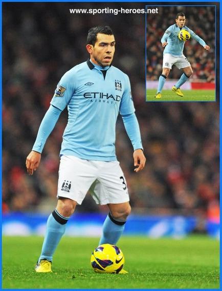Camiseta Manchester City 2012 2013 Tevez 32 Argentina Boca L