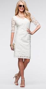 Vestido Encaje Blanco Novia Civil Ve 55