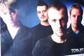 Poster Banda Grupo Travis Importado Raro