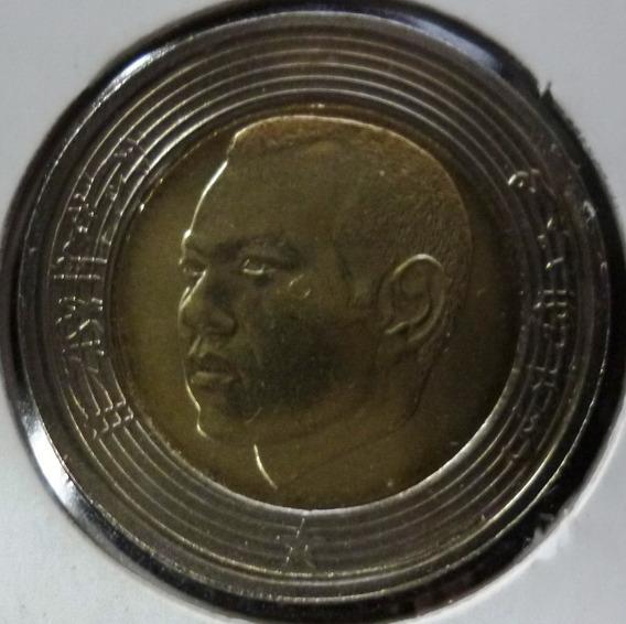 Marruecos Moneda Bimetalica Mohammed Vi 5 Dirham 2002