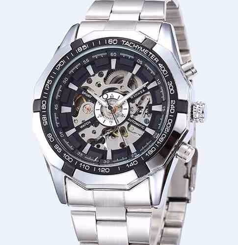 Relógio Winner Automático Skeleton Pronta Entrega