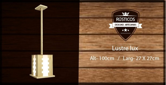 Lustre Madeira Lux 27lx30a + Haste 100cm