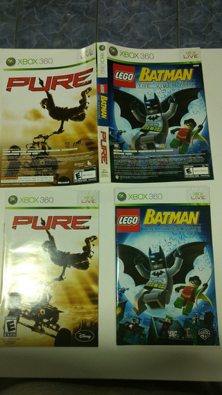 Manual Original Pure E Lego Batman Microsoft Xbox 360