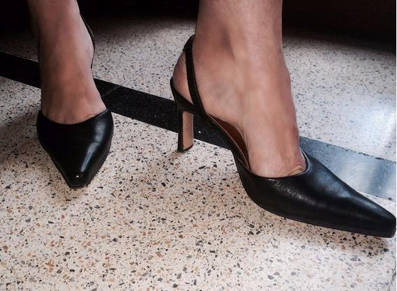 Zapatos De Fiesta Stiletto Negros Talle 36
