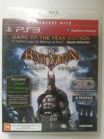 Jogo Batman Arkham Asylum 3d Game Of The Year Edition Ps3.