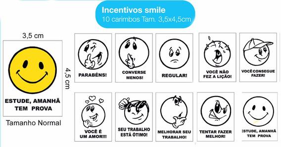 Carimbos Smile Coração Caderno Papagaio Lâmpada Coruja 60und
