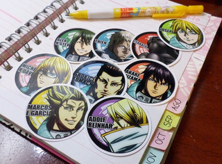 Set De 9 Stickers Circulares De Anime - Terra Formars