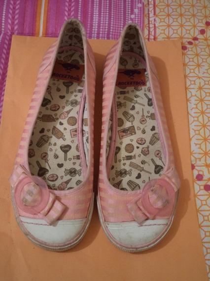 Zapatos Flats Rocket Dog 100% Originales Rosa 4 Mex Dama