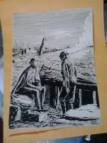 Desenho Em Bico De Pena Retratando I Guerra Mundial