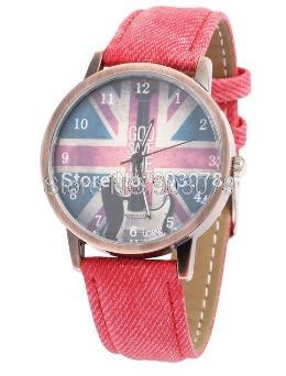 Relógio Goo Save The King - Estilo Vintage - Vermelho