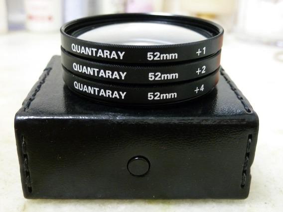 Lentes Adaptadoras 52mm Close Up +1+2 +4 Quantaray Japan