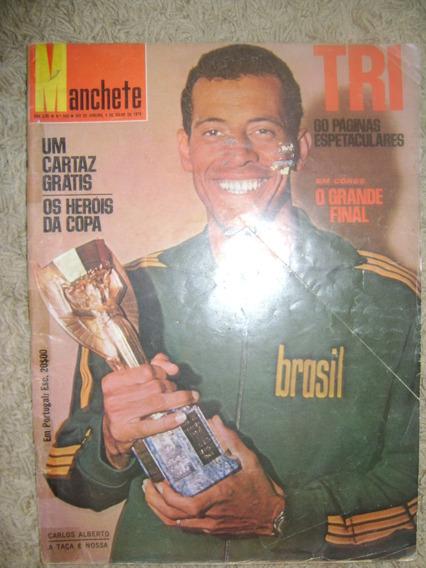 Revista Manchete Brasil Tricampeão Mundial 1970
