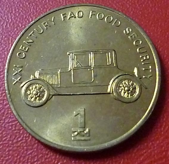 Corea Del Norte Moneda 1 Chon Unc 2002 Automovil
