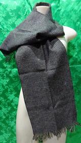 Cachecol Feminino De Lã -preto Mesclado