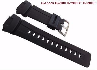 Pulseira Casio G-shock G-2900 G-2900bt G-2900f Borracha Pret