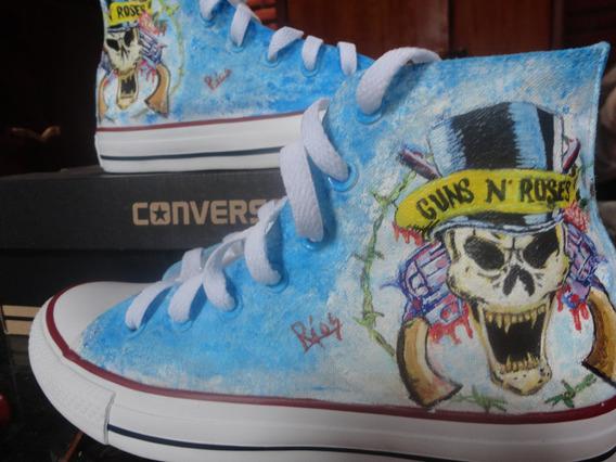 Converse Guns N Roses, Metal, Rock