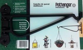 Paquete Con Dos Porta Macetas Tipo Gancho Para Pared