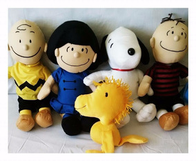 Pelucia Snoopy E Sua Turma - Kit C/ 5