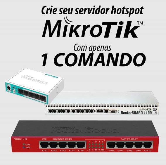 Crie Servidor Mikrotik Hotspot Do Zero Com Apenas Um Comando
