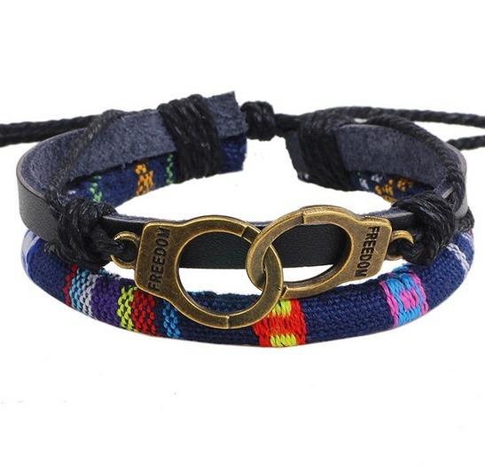 Pulseira Bracelete Feminina Em Couro Linda Para Presente