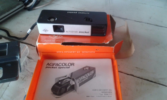 Bela Camera Fotografica Agfa Autostar Pocket Na Caixa Otima