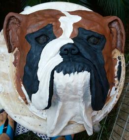 Escultura Bulldog Inglês